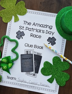 St. Patrick's Day Amazing Race Clue Book Pinterest Picture